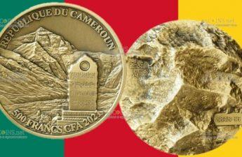 Камерун монета 500 франков КФА Эверест