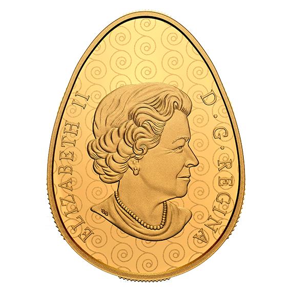 Канада монета 250 долларов Писанка, аверс
