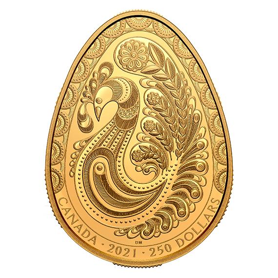Канада монета 250 долларов Писанка, реверс