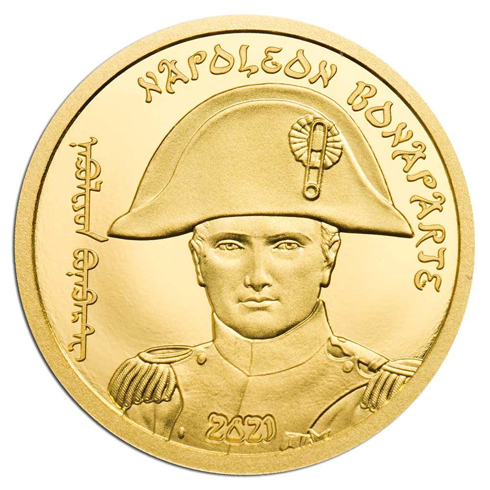 Монголия монета 1 000 тугриков Наполеон Бонапарт, реверс