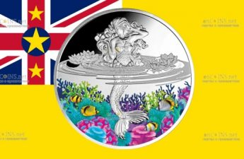 Ниуэ монета 1 доллар Русалка