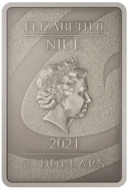 Ниуэ монета 2 доллара 2021, аверс