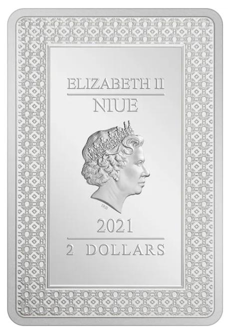 Ниуэ монета 2 доллара 2021 год, аверс