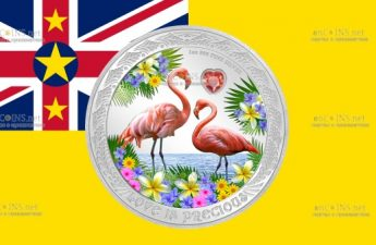 Ниуэ монета 2 доллара Фламинго