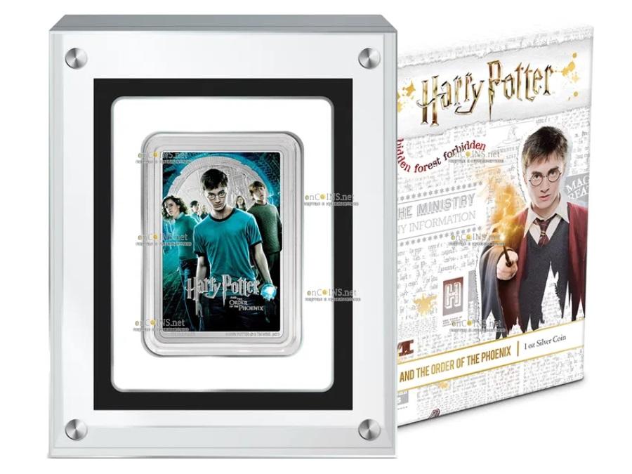 Ниуэ монета 2 доллара Гарри Поттер и Орден Феникса, подарочная упаковка