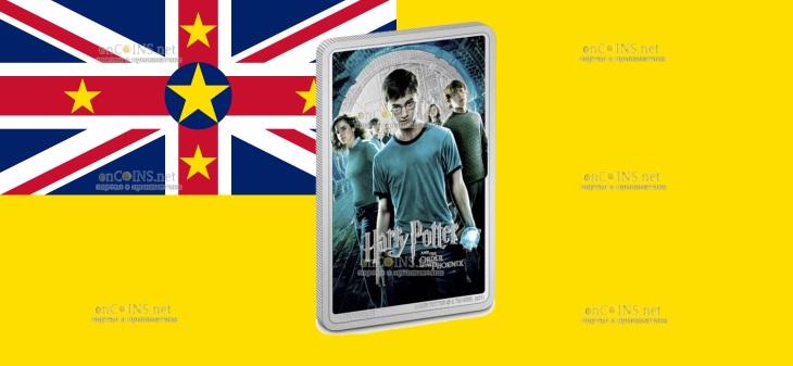Ниуэ монета 2 доллара Гарри Поттер и Орден Феникса