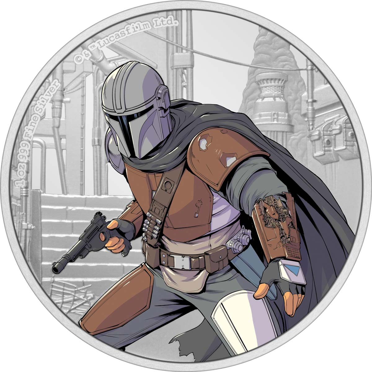 Ниуэ монета 2 доллара Мандалорец, реверс