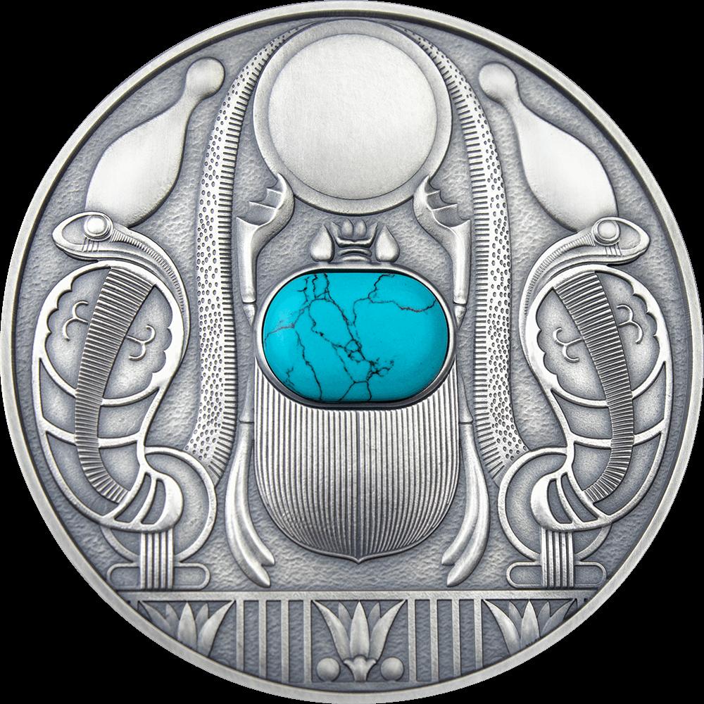 Ниуэ монета 2 доллара Скарабей, реверс