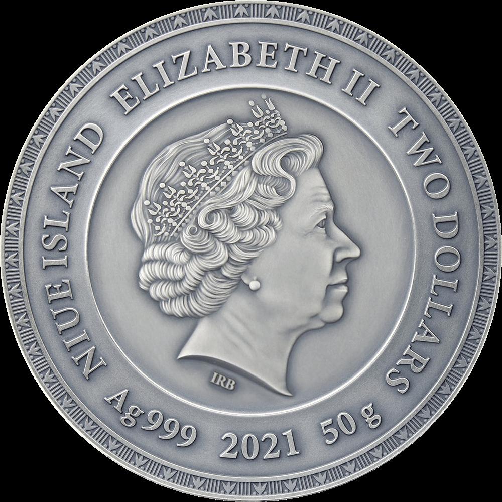 Ниуэ монета 2 доллара Скарабей,аверс