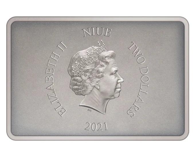 Ниуэ монета 2 доллара Стражи Империи, аверс