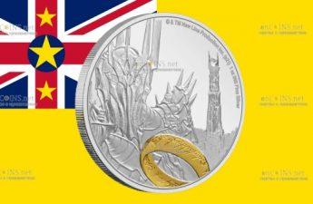 Ниуэ монета 2 доллара Властелин колец