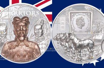 Острова Кука монета 20 долларов Терракотовая армия