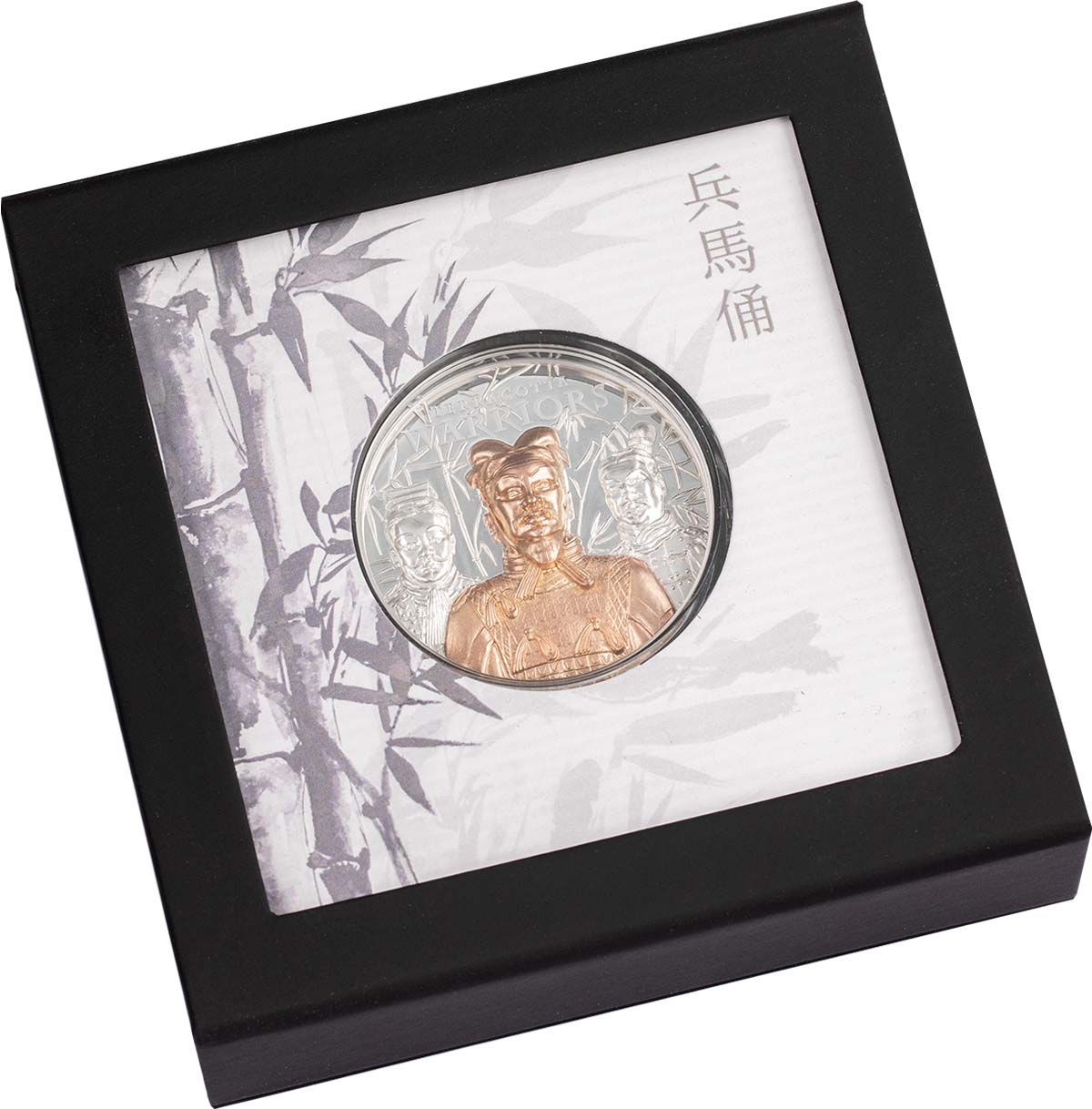 Острова Кука монета 20 долларов Терракотовая армия, подарочная упаковка