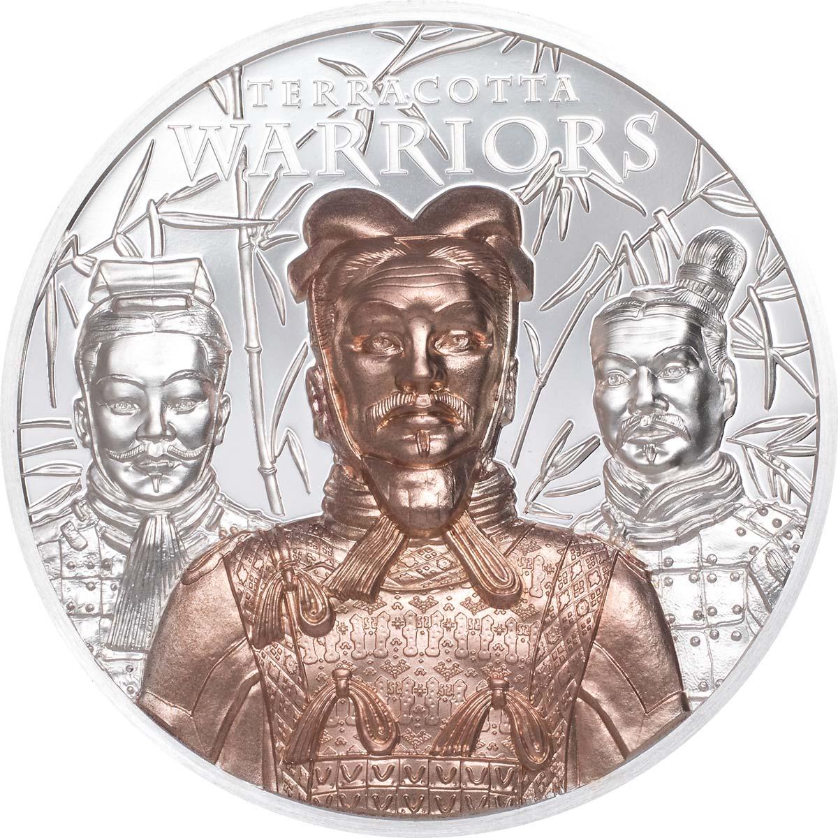 Острова Кука монета 20 долларов Терракотовая армия, реверс