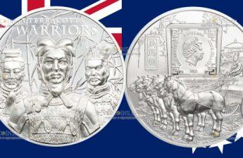 Острова Кука монета 5 долларов Терракотовая армия