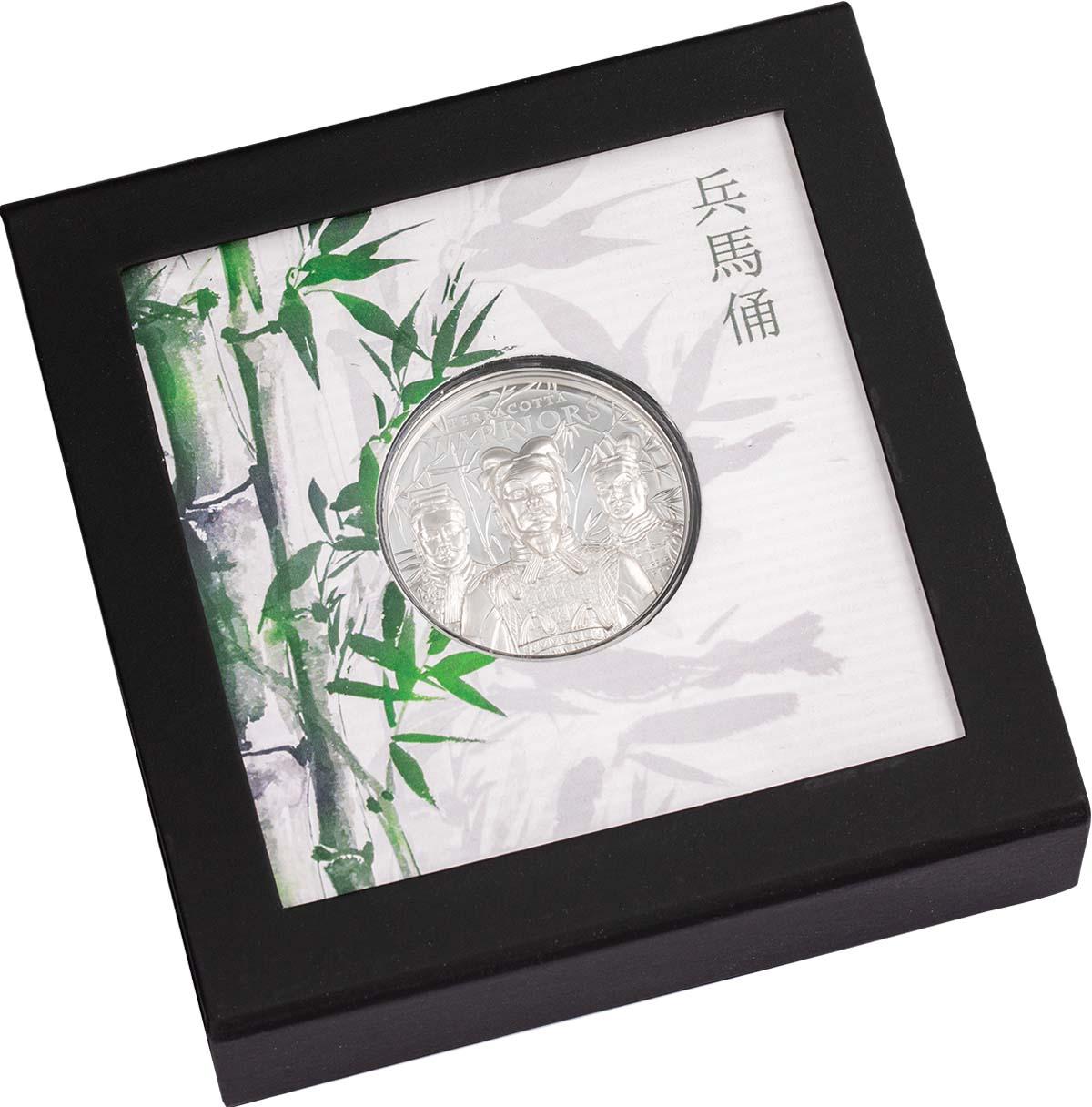 Острова Кука монета 5 долларов Терракотовая армия, подарочная упаковка