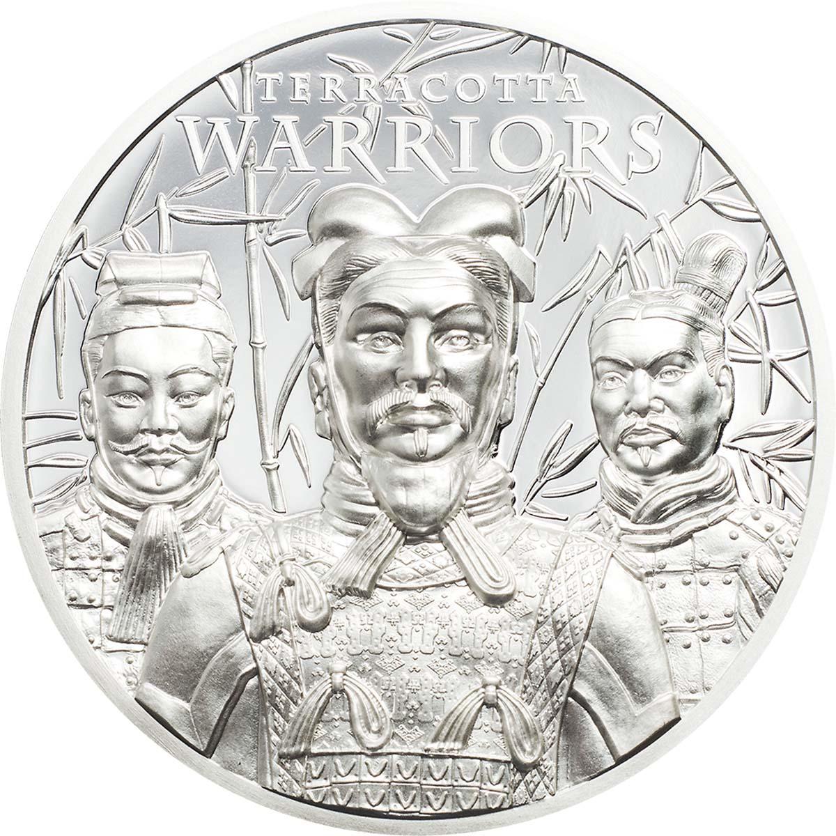 Острова Кука монета 5 долларов Терракотовая армия, реверс
