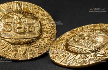 Палау 5 долларов Золотой диск бога солнца