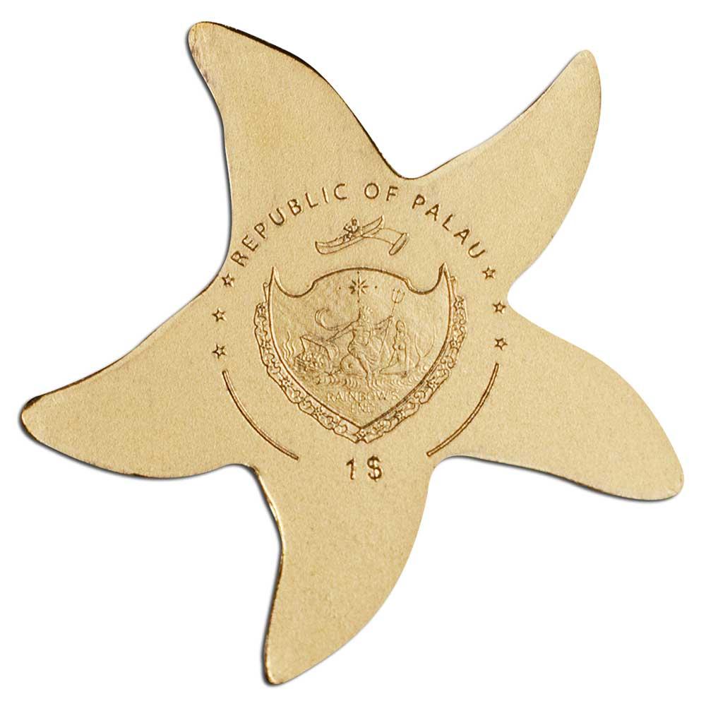 Палау монета 1 доллар Золотая звезда, аверс