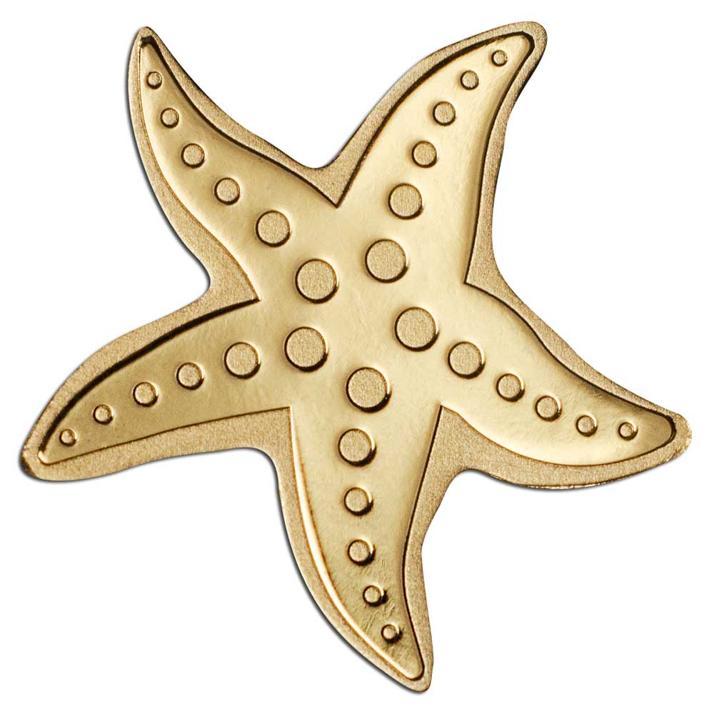 Палау монета 1 доллар Золотая звезда, реверс