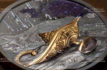 Палау монета 5 долларов Волшебная лампа