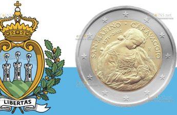 Сан-Марино монета 2 евро Караваджо