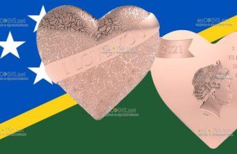 Соломоновы острова монета 2 доллара От всего сердца