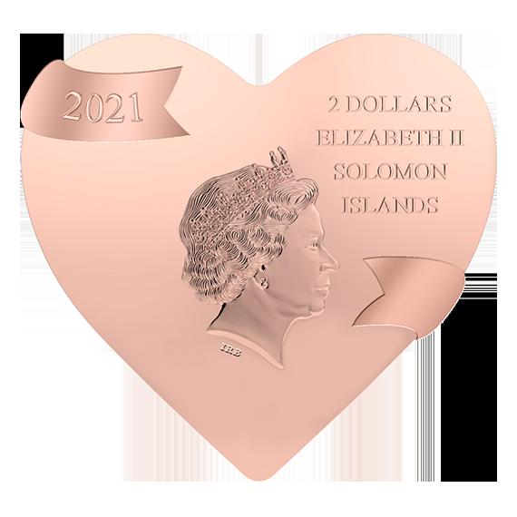 Соломоновы острова монета 2 доллара От всего сердца, аверс