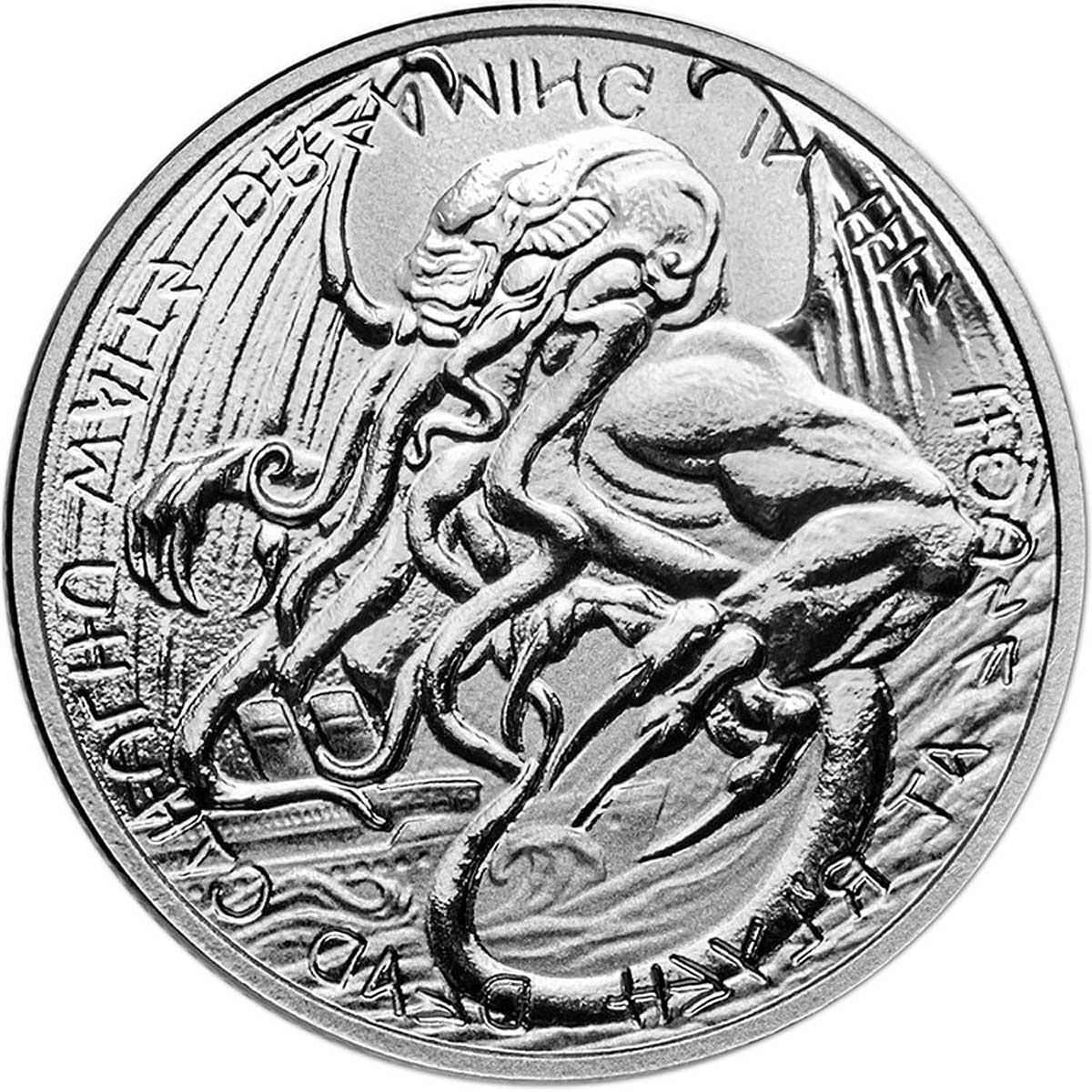 Токелау выпускает монету 2 доллара Ктулху, реверс