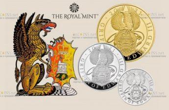Великобритания выпускает монеты Грифон Эдуарда III