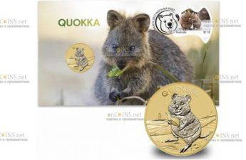 Австралия монета 1 доллар Австралийская квокка