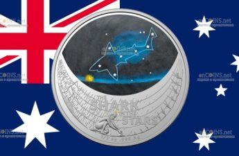 Австралия монета 1 доллар Звездная акула