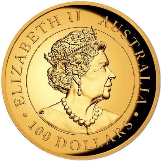 Австралия монета 100 долларов 2021 год, аверс