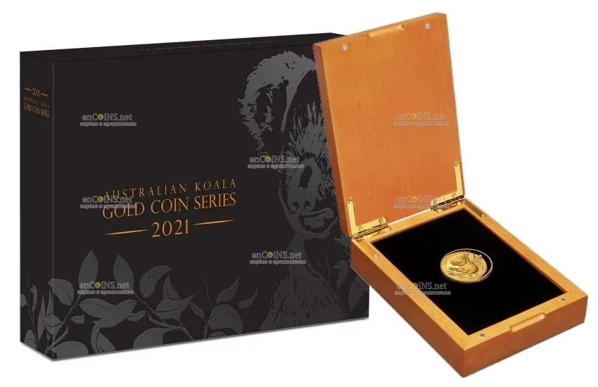 Австралия монета 100 долларов Австралийская коала, подарочная упаковка