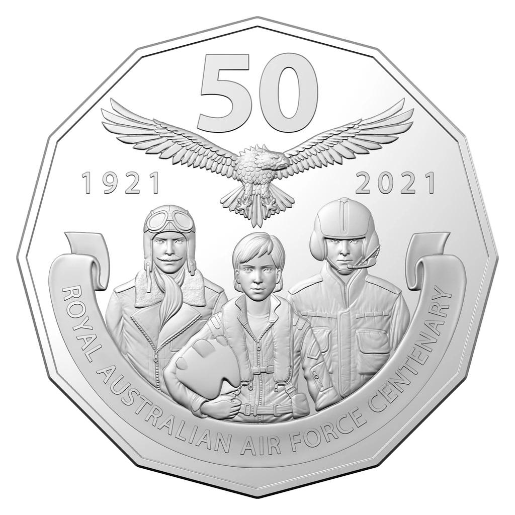 Австралия монета 50 центов - 100 лет Королевским военно-воздушным силам Австралии, реверс