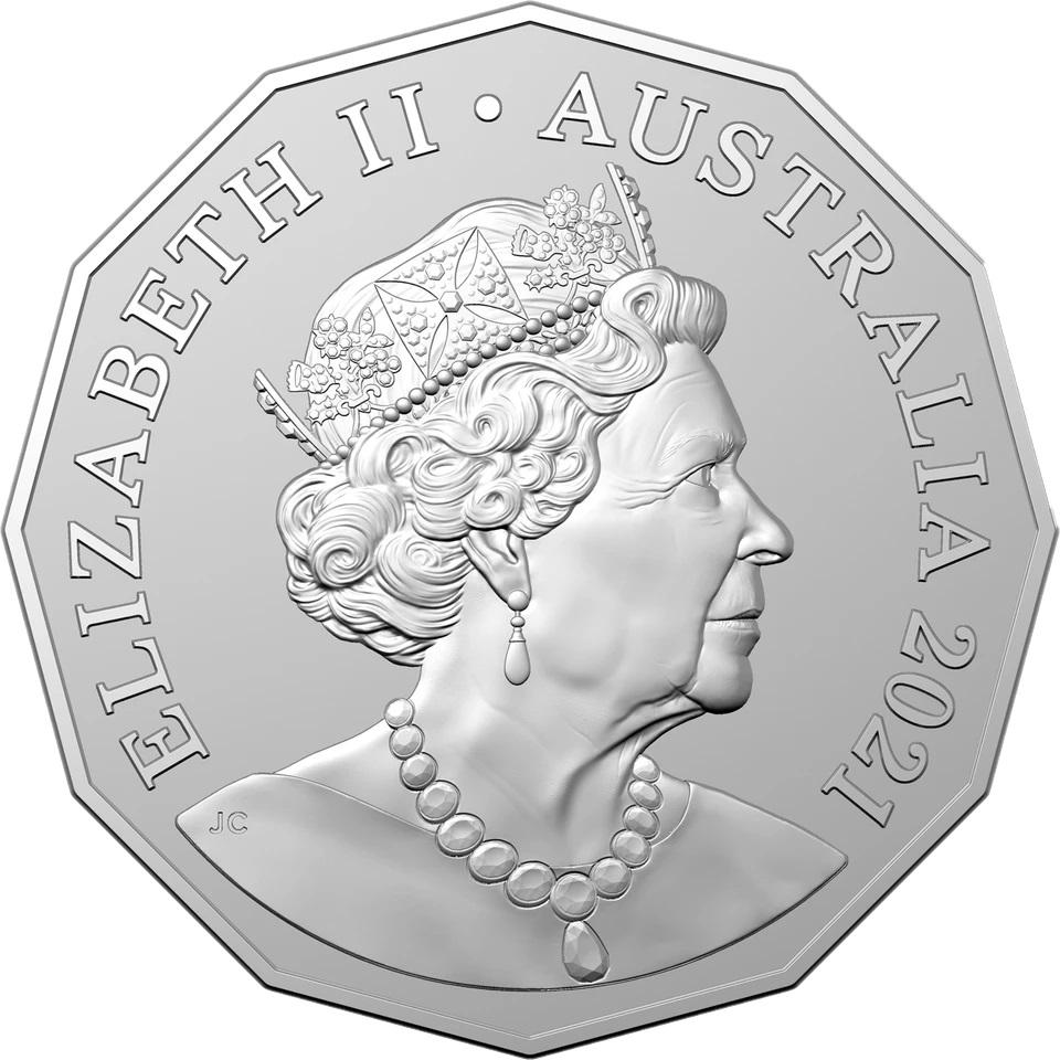 Австралия монета 50 центов 2021 год, аверс