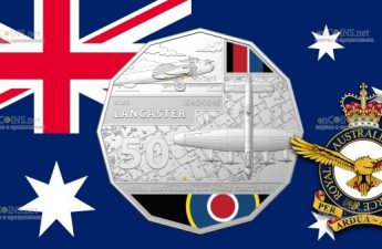 Австралия монета 50 центов Avro Lancaster