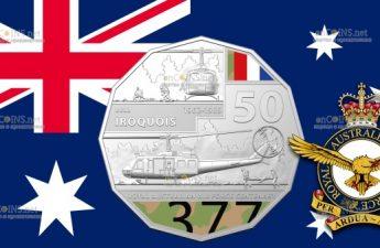 Австралия монета 50 центов Bell UH-1 Iroquois