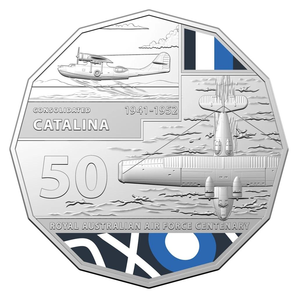 Австралия монета 50 центов Consolidated PBY Catalina, реверс