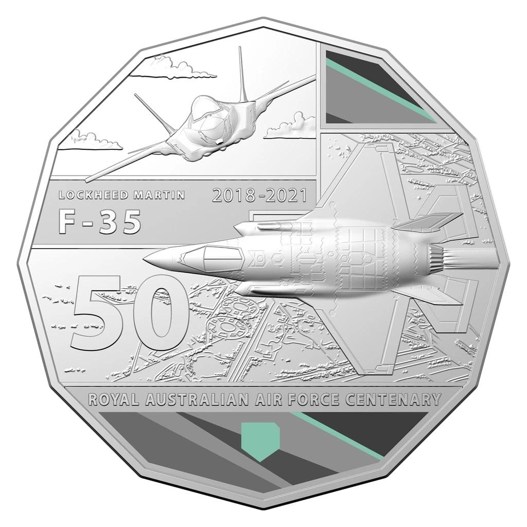 Австралия монета 50 центов F-35 JOINT STRIKE FIGHTER, реверс