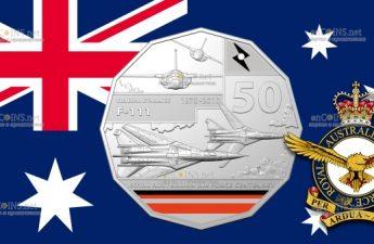 Австралия монета 50 центов General Dynamics F-111
