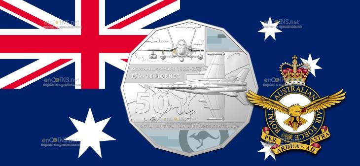 Австралия монета 50 центов McDonnell Douglas FA-18 Hornet