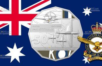 Австралия монета 50 центов P-40 KITTYHAWK