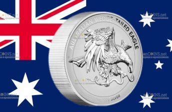 Австралия монета 8 долларов Австралийский клинохвостый орел