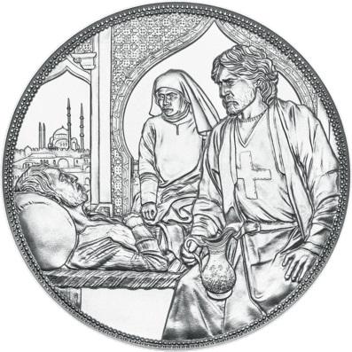 Австрия монета 10 евро Тевтонский орден и братство, реверс