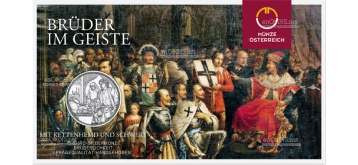 Австрия монета 10 евро Тевтонский орден и братство