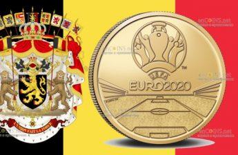 Бельгия монета 2,5 евро ЕВРО-2020