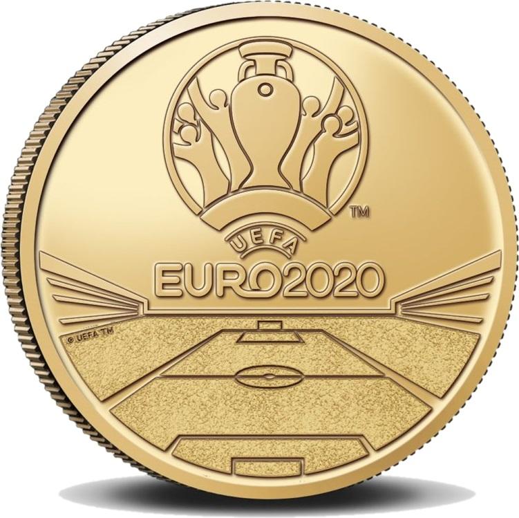 Бельгия монета 2,5 евро ЕВРО-2020, реверс