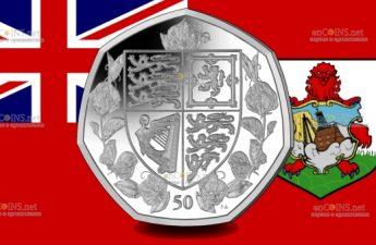 Британские территории в Индийском океане монетау 50 пенсов 95 лет со дня рождения королевы