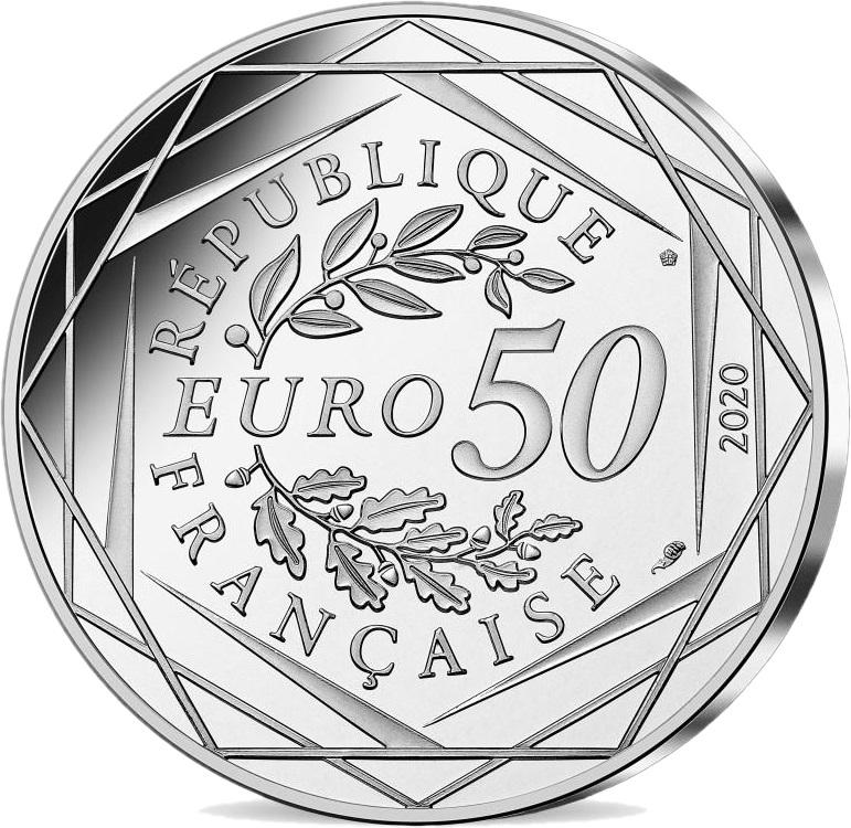 Франция 50 евро 2021 год, аверс
